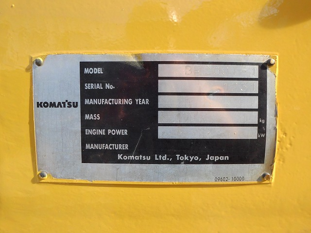 < SOLD OUT>Used Komatsu BR200T-1 Industrial Wood Chipper From Japan