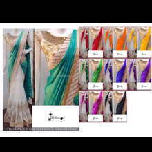 Heavy designer special occasional paper silk saree with diamond work saree