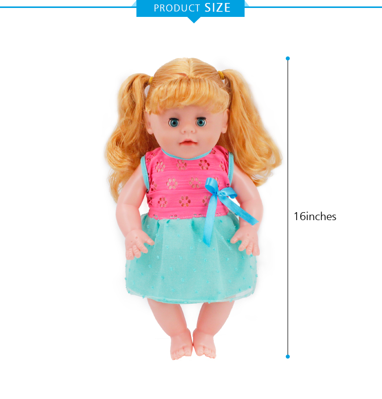 16 inch drink and pee vinyl fashion doll With Vinyl heads for wholesale