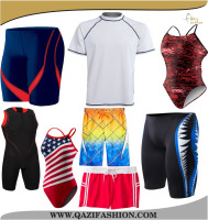 Custom Sublimation Printed Swimming Wears competitive Swim Wear 4-way Stretch Shorts Beach Wear Men's Women Surf Shorts