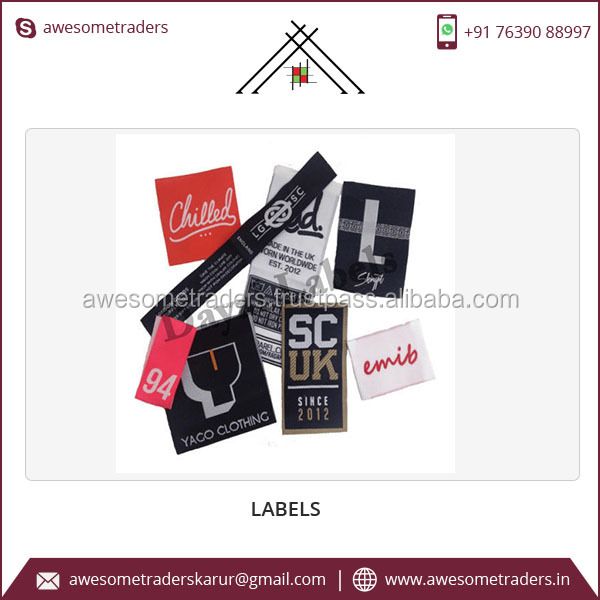 Wholesale Fancy Clothing Labels Custom Woven Garment Labels