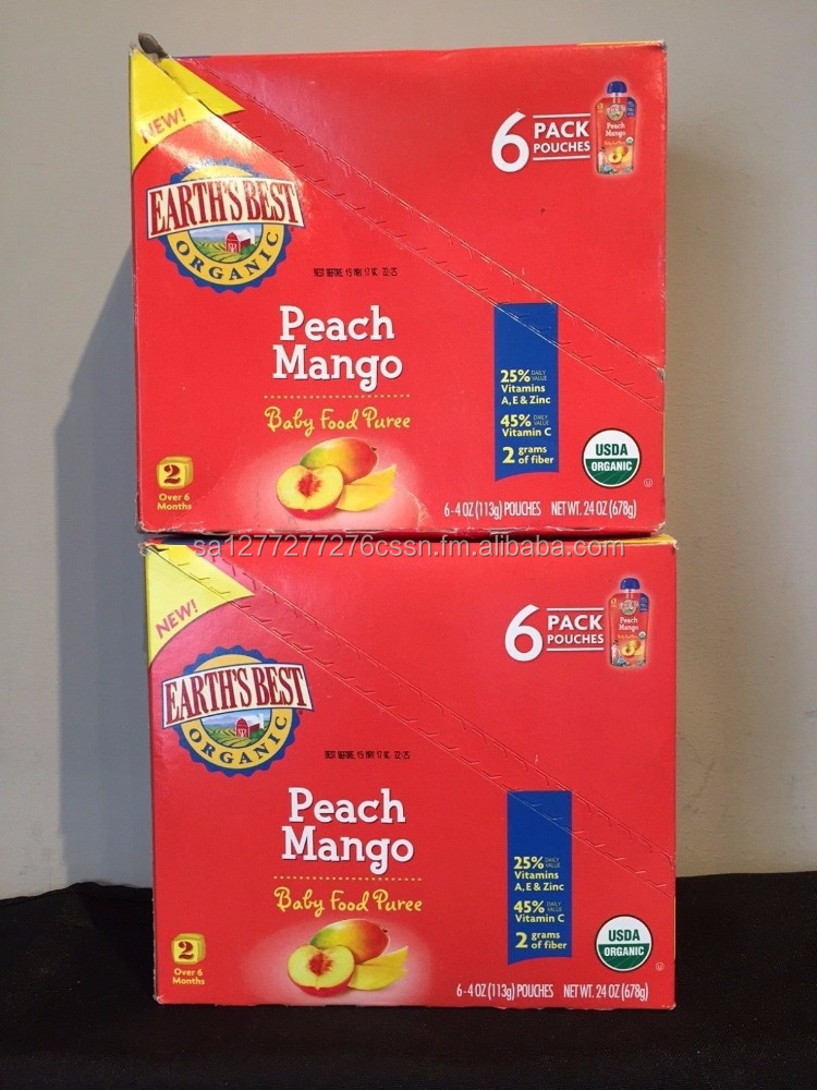 Earth's Best Baby Foods Puree Peach Mango