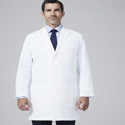 Doctor Gown 100% Cotton or 65% Polyester 35% Cotton White Lab Coat