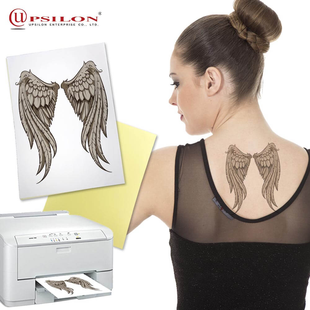 DIY Water Transfer Laser Print Big Temporary Tattoo
