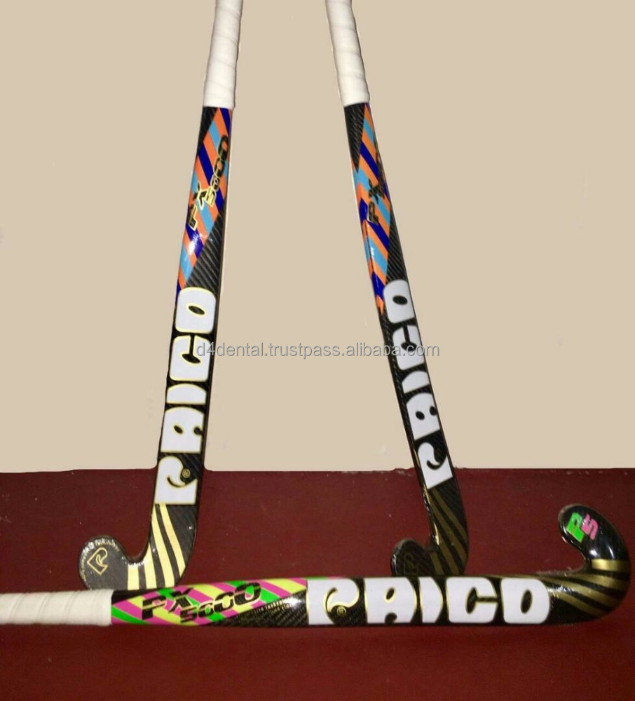 Paico Sports PX5000 Composite 100% Carbon with Carbon Cloth Professional Field Hockey Stick New