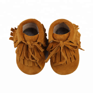 New Design Lace Up Tassel Winter Newborn Baby Shoes