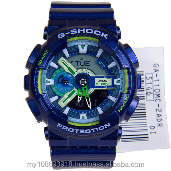 GA-110MC-2A Standart Digital Blue Resin Strap Mens Watch