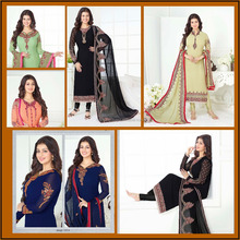 Indian Stylish Casual Wear Embroidery Unstitched Dress Material