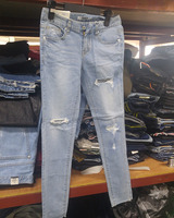 Cheap stock lot sale various Man Woman's Denim jean from Korea