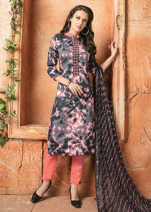 Sadaa Nazakat Glace Cotton With Elegent Embroidery Work Salwar kameez