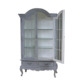French Furniture Livingroom Showcase Cabinet 2 Glass Door - Painted French Provincial Furniture Indonesia
