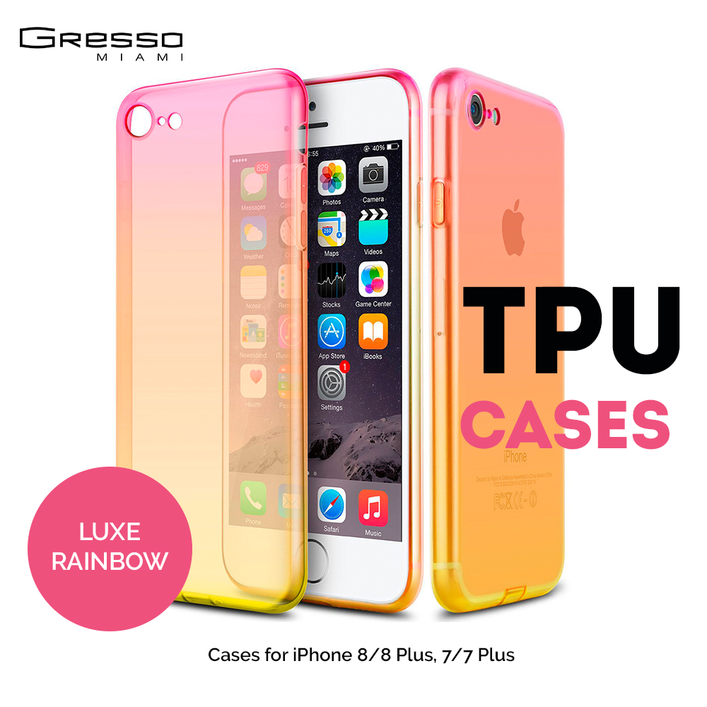 Fashion TPU Back Cover Case for iPhone X 8 Plus s with Ombre Gradient Wholesale OEM
