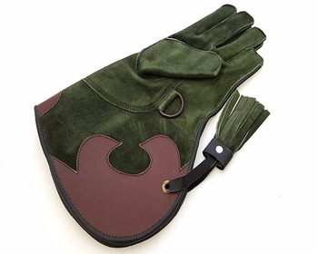 Leather Falconry Gloves.