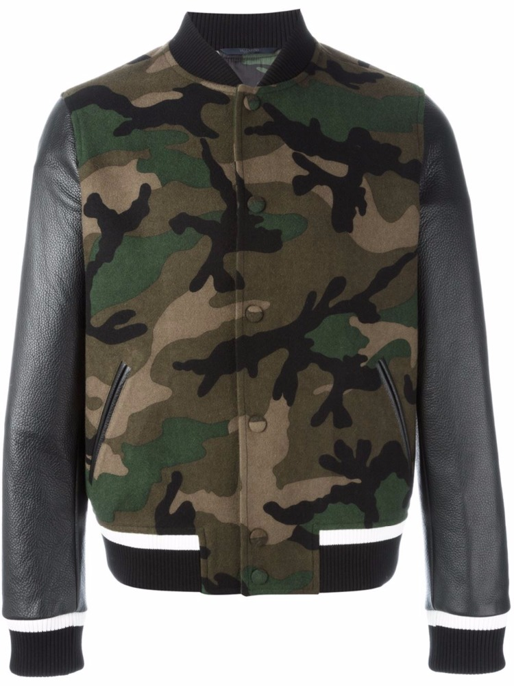 MA-1 Bomber Jacket/ All Camo Leather Patch Flight Bomber Jacket by A Bathing Ape Japan size Large