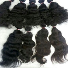 Unprocessed natural 100% virgin human weave single donor south indian overseas hair