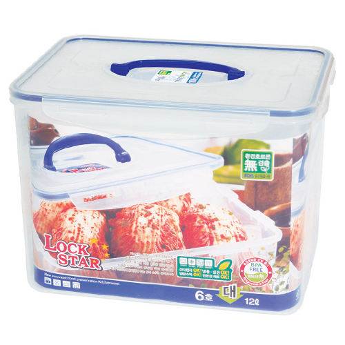[L163] lastic Fruit Container Lockstar Transparent Food Storage Container 100% Made in Korea Excellent Storage Function