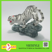 Polyresin animal statue for home decoration/ White Tiger statue