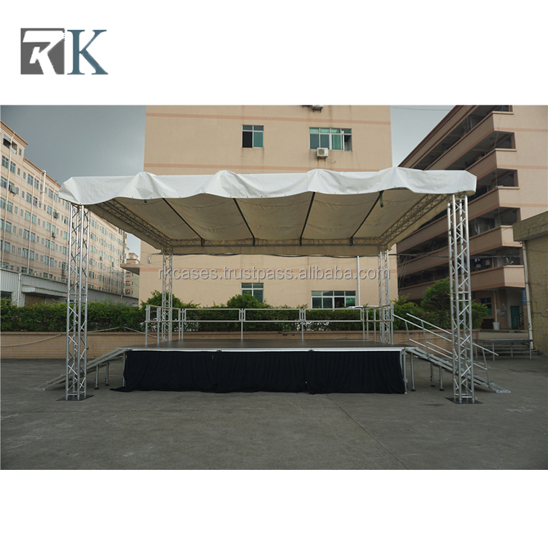 portable glass aluminum stage Acrylic for concert wedding event