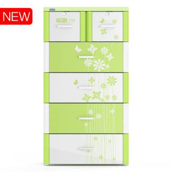 High quality plastic drawer/ plastic cabinet/ TABI-L CABINET - 5 DRAWERS - Duy Tan plastic