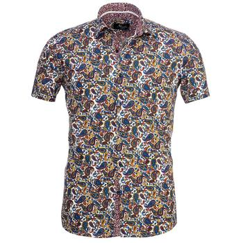 Colorful Paisley Short Sleeve High Quality  Dress Shirt