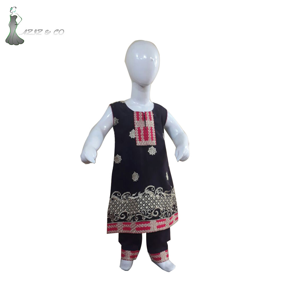 Black Color For Kids\ Good Quality Casual Wear Dress