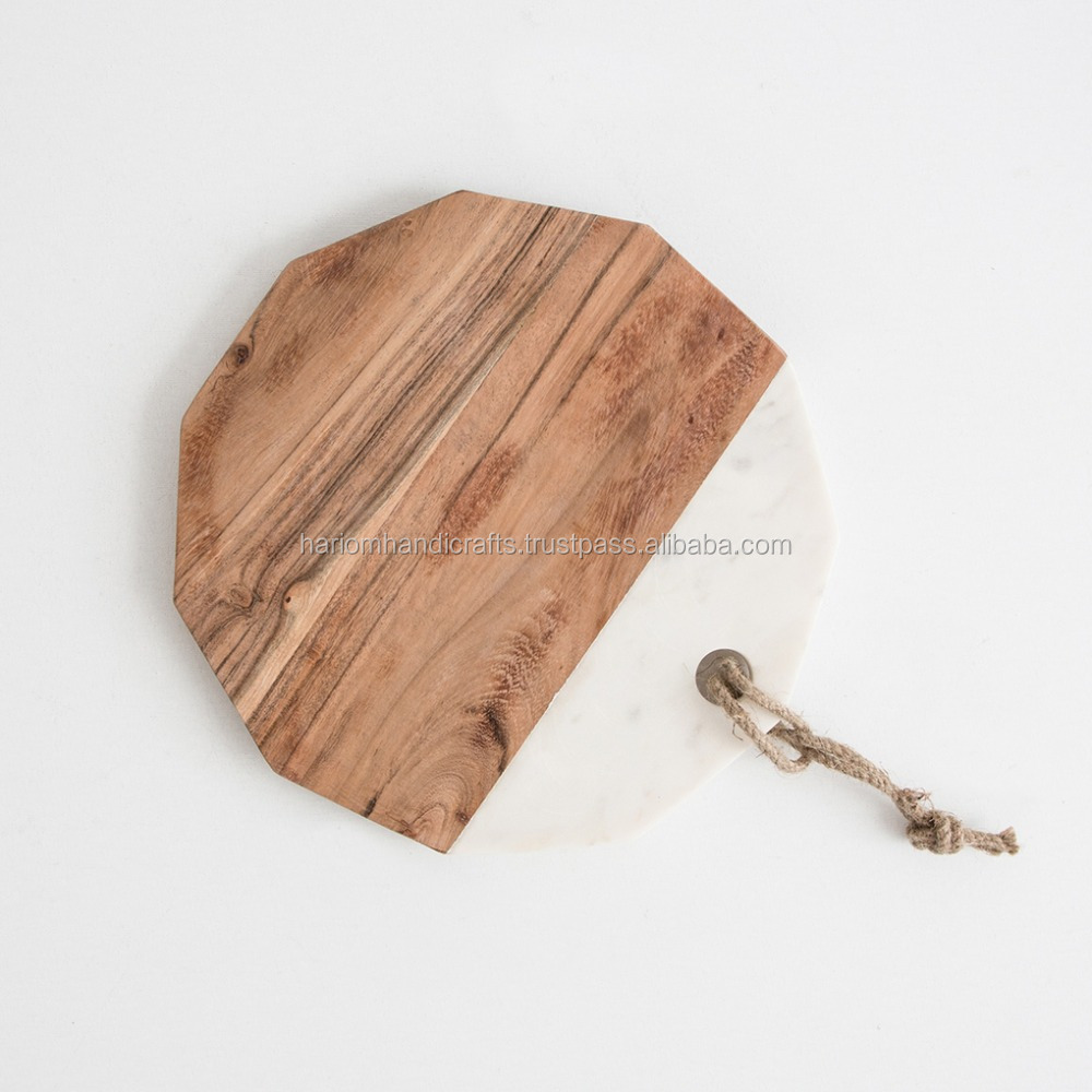 Wooden Marble Chopping Cheese Board