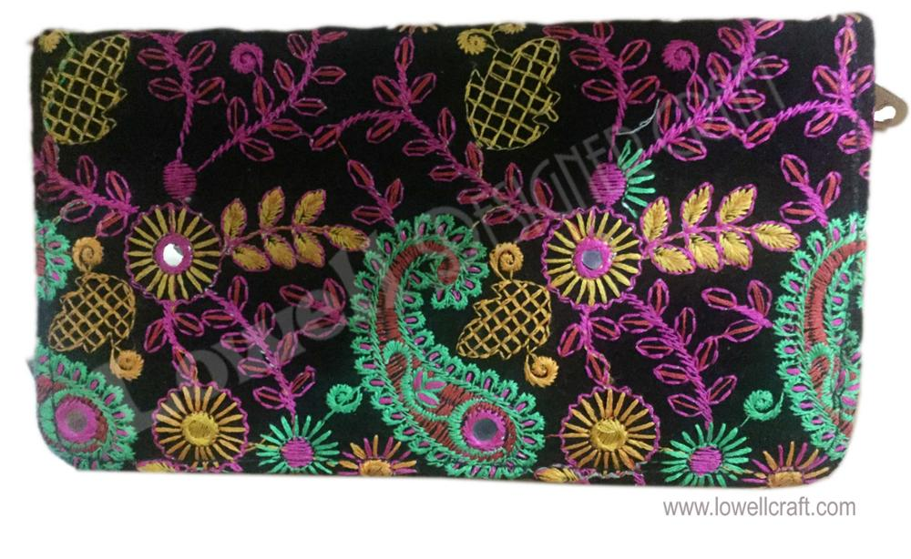 EMBROIDERY LADIES BEADED CLUTCH PURSE