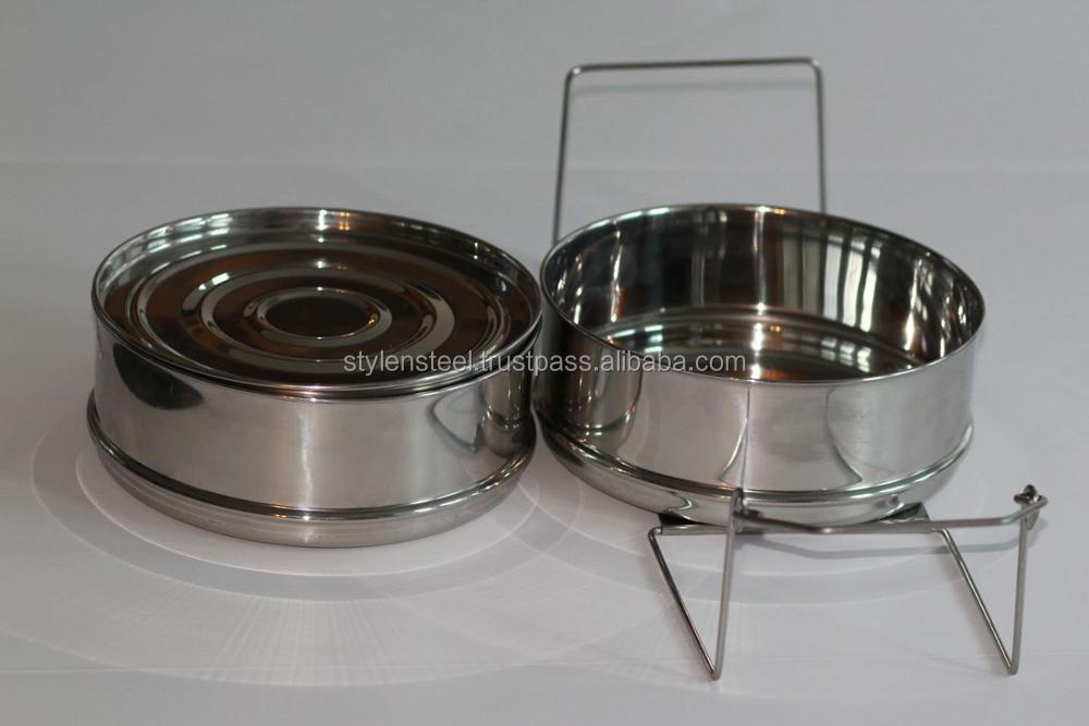 Stackable Stainless Steel Pressure Cooker Steamer Insert Pans with lid