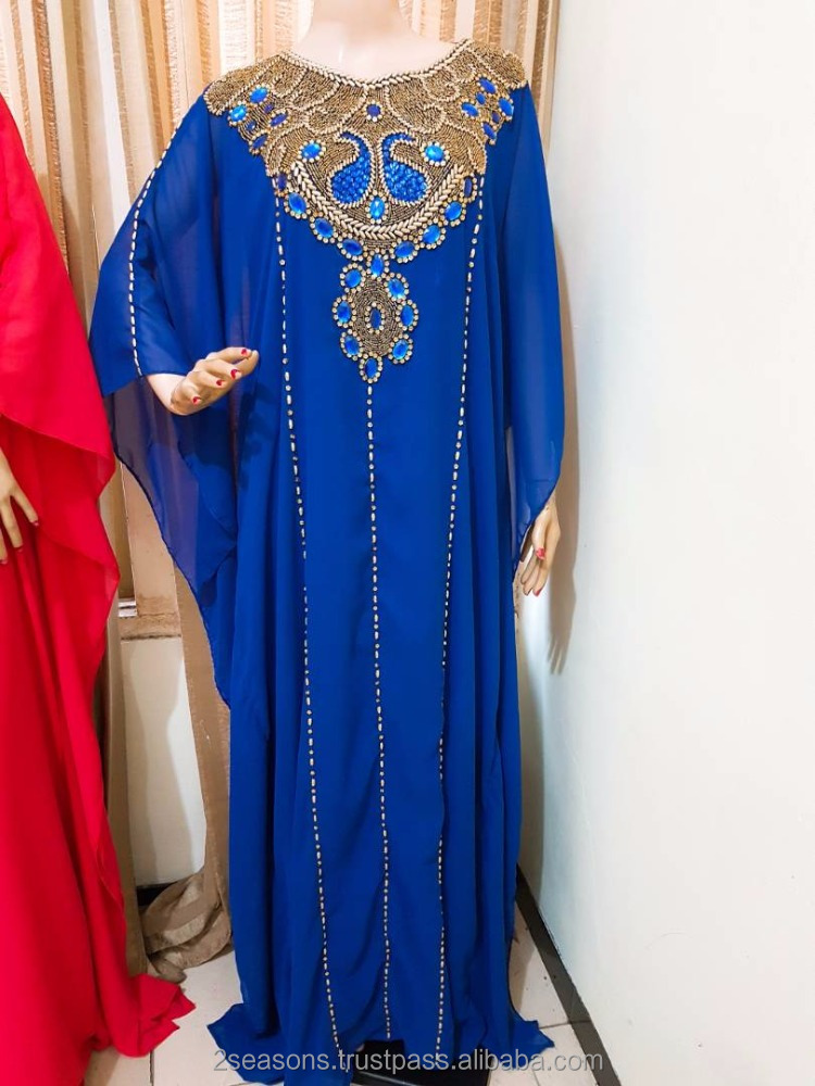 Beautiful Kaftan Maxi Dress With Beautiful Beaded