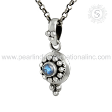 rainbow Moonstone silver pendants indian jewelry 925 sterling silver pendant wholesale manufacturer jewelry