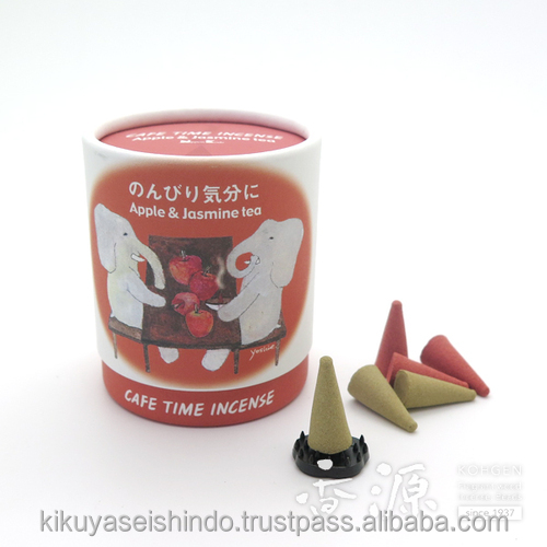 Nippon Kodo, Cafe Time Incense, Apple & Jasmine Tea, cones and stand included, 10 pieces (5 per each fragrance)