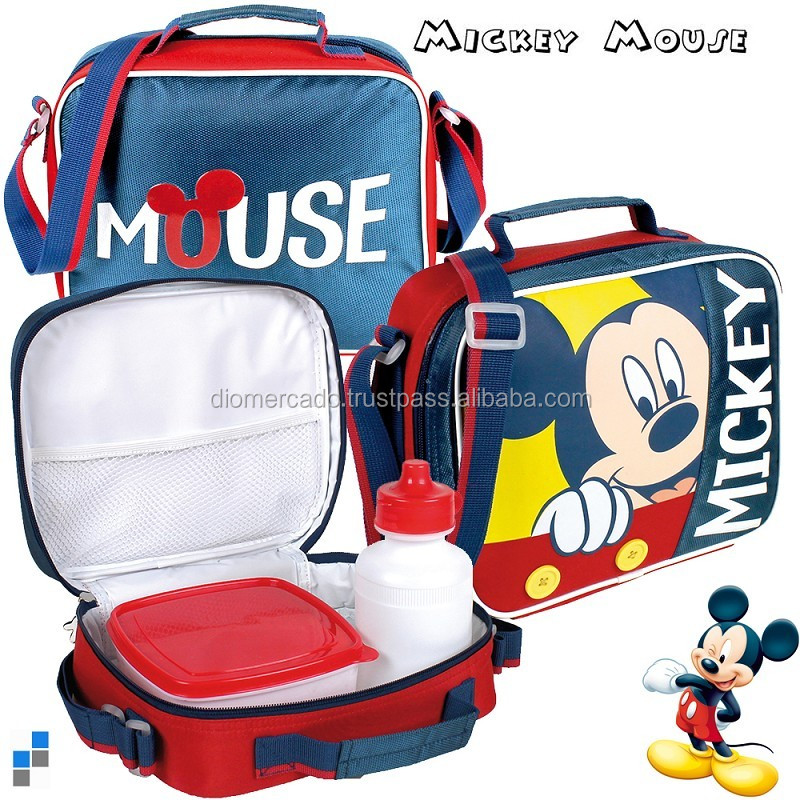 Shoulder bag for kids Mickey drinking bottle and lunch box - Licensed for EU