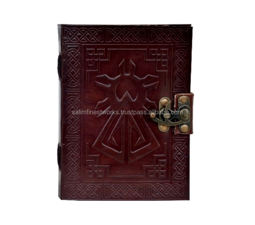 Celtic Shadow Handmade 100% Genuine Vintage Leather Journal Diary Note paper address book