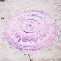 Wholesale mandala tapestry beach throw yoga mat Indian round tapestry