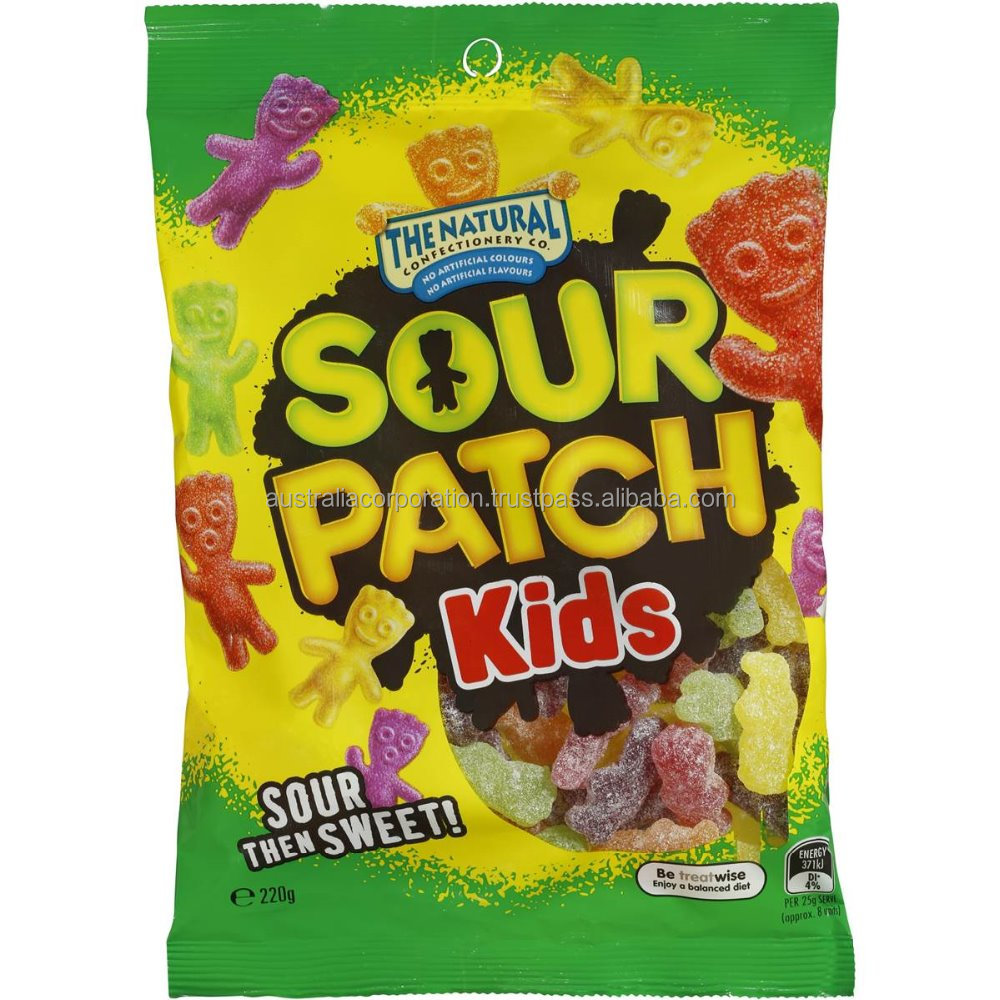 The Natural Confectionery Co Sour Patch Kids 220g jelly candy lolly