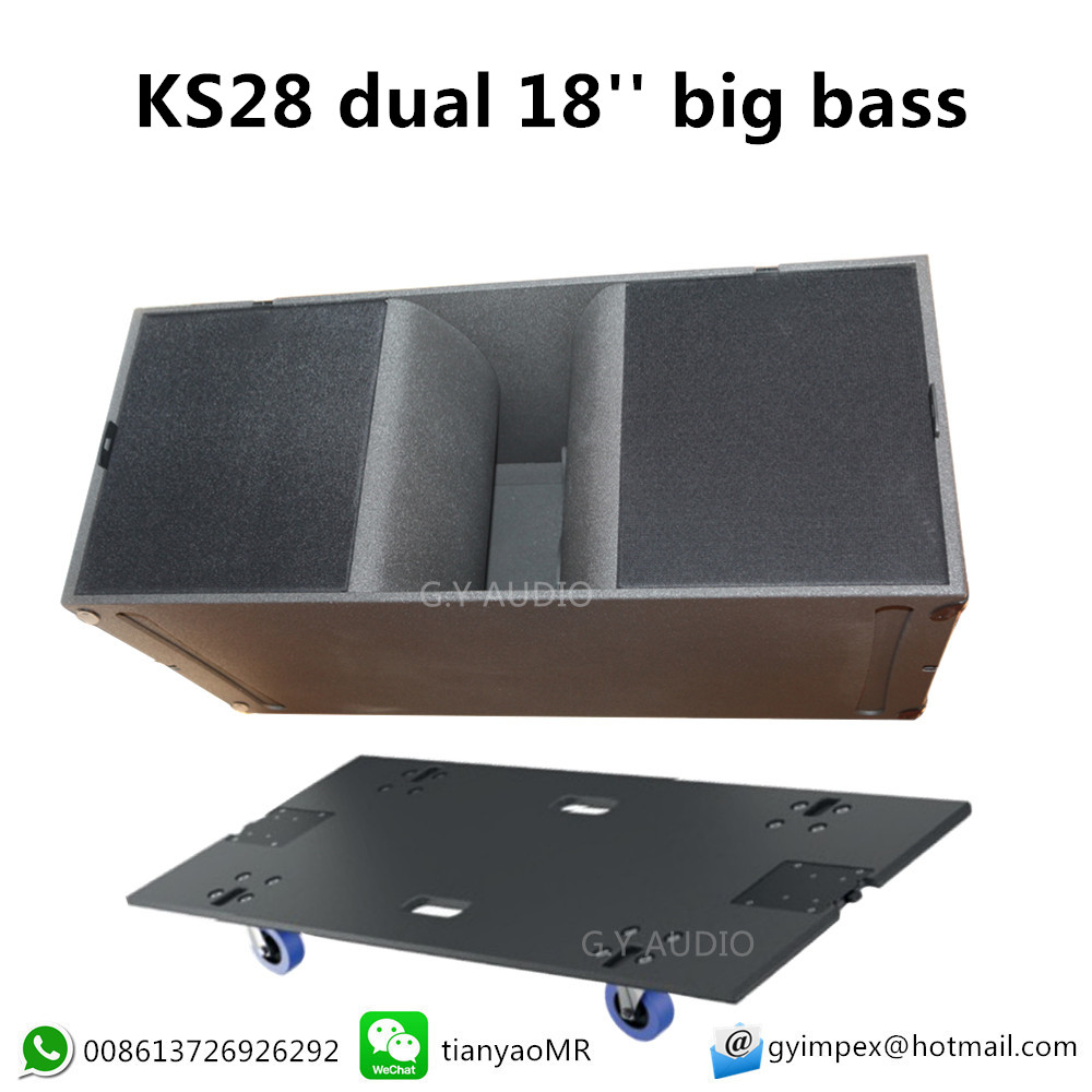 GY audio subwoofer box, dual 18 stage high power subwoofer cabinet KS28