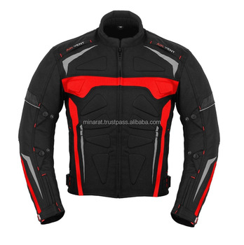 Red Motorbike Armoured Jacket Motorcycle Waterproof customized Motorbike Jacket 600d Cordura Fabric CE Approved