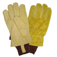 Freezer Gloves Cold Weather Working Mitten Cowhide Leather Gloves