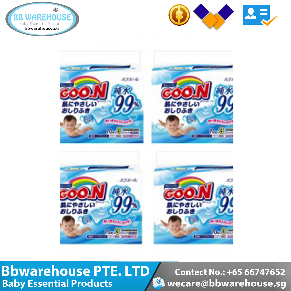 GOO.N Baby Wet Wipes 70pcs x 12