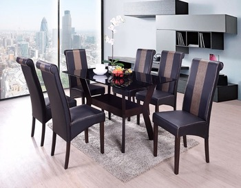 Glass table top dining set