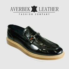 Crocodile Men Casual Genuine Patent Leather Shoes, Europe Shoe Manufacturer
