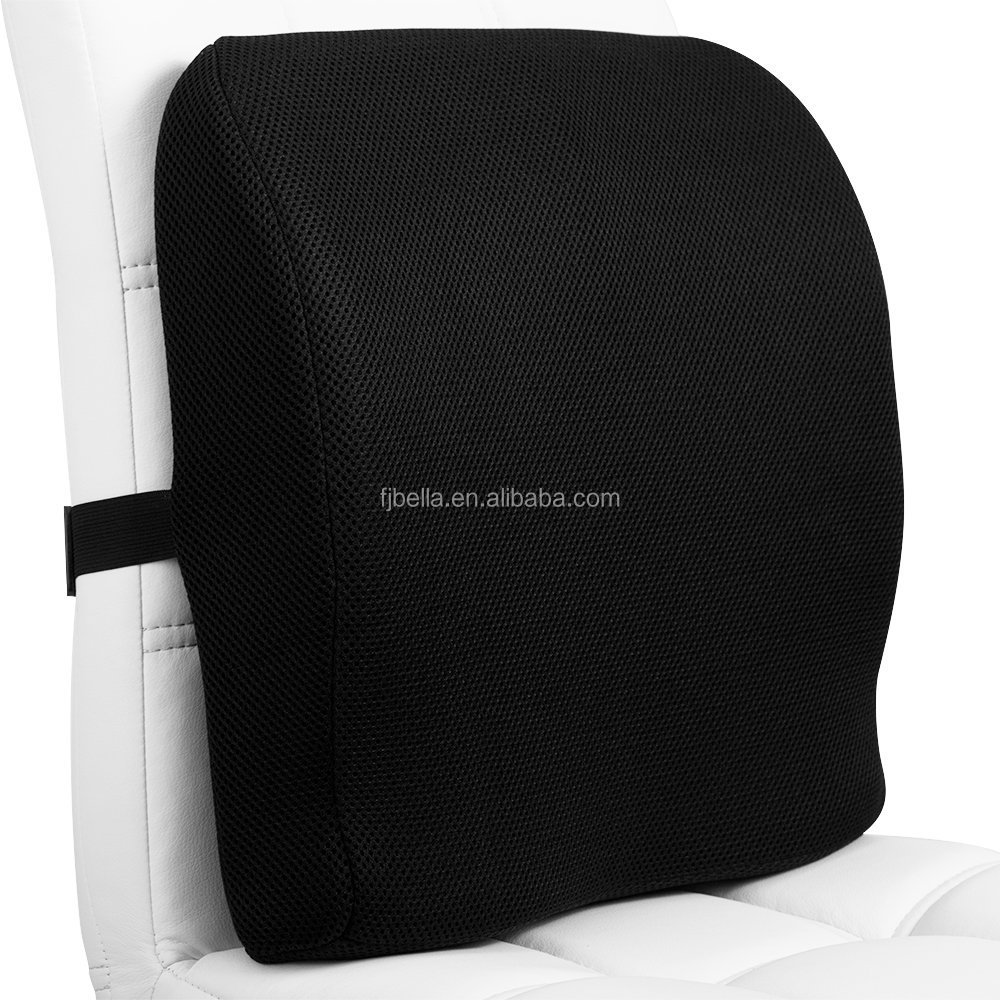 Dual Use memory foam back support cushion and seat cushion orthopedically shaped lumbar pillow for chair,car,offical