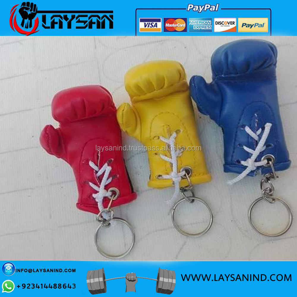 Exotic Car Mirror hanging Mini Boxing gloves Key chains 2017 customized