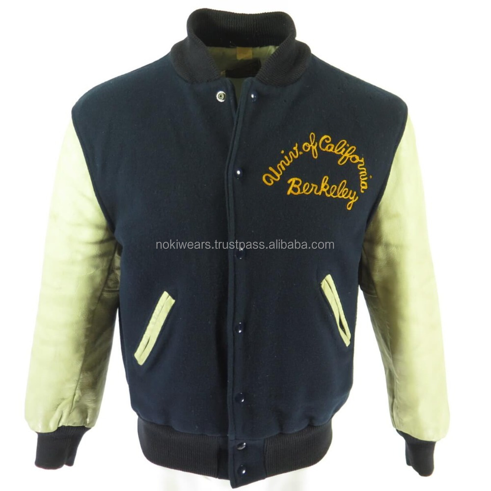 Varsity Jackets for Universities, Schools and Colleges/Leather Sleeves&Wool Body Jackets With Custom Designs/AT NOKI
