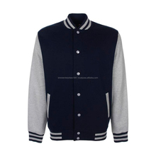 Simple Plain Varsity Jacket With Buttons College Jacket Winter Special