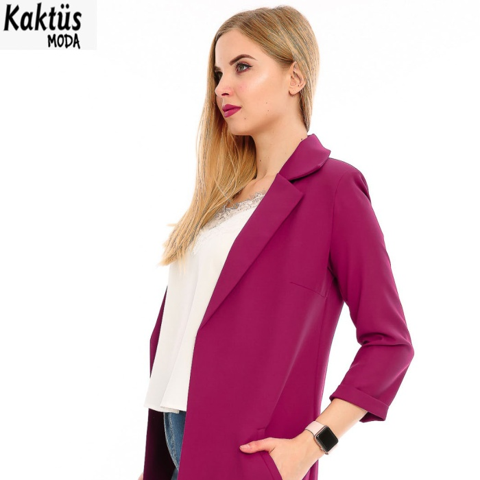 2018 New design fashion casual and formal long jacket /coat for women and ladies