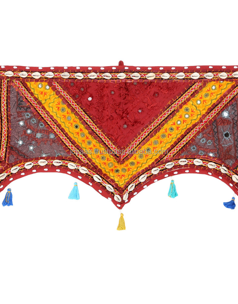Home Decor Rajasthani Handicraft Colorful Kodi Work Cotton Door Hanging