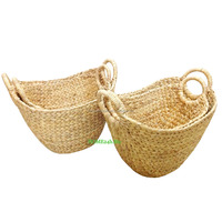New product Homeset of two s/2 Storage Wicker Basket Water Hyacinth