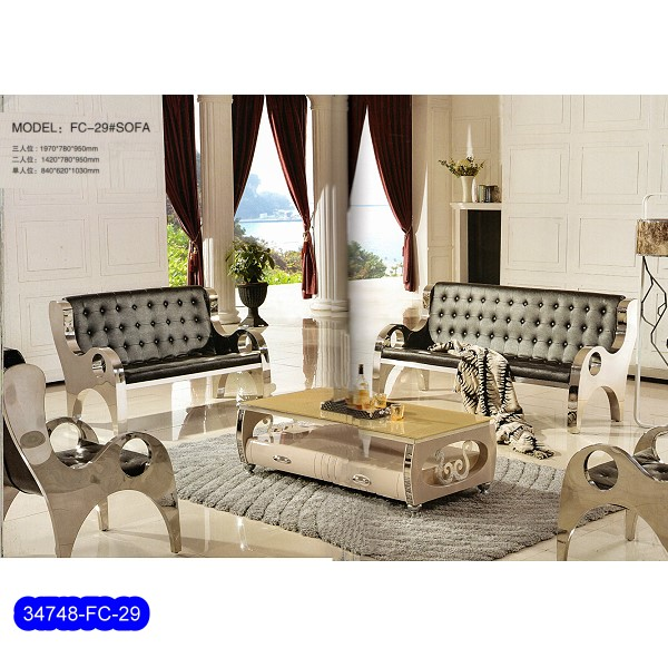 Hot sale Stainless Steel Sofa Set 34748-EF-016