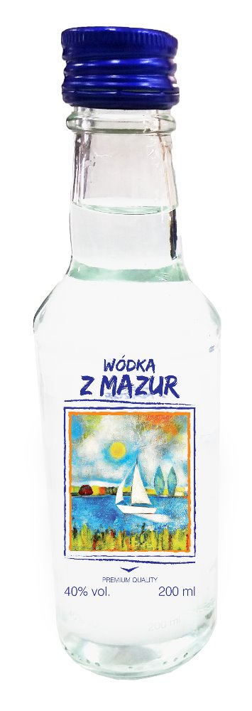 VODKA Z MAZUR - 0,2L, 40% high quality Polish wheat spirit, Polish distillery